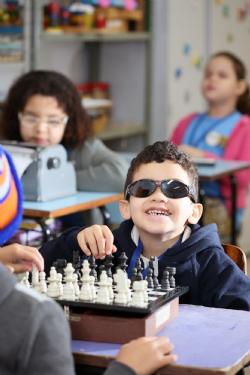 Francisco Pietro de Sousa jogando Xadrez